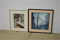 (2) Framed Prints