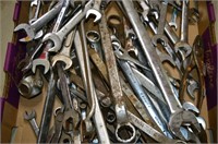 Large Tray of Assorted Wrenches