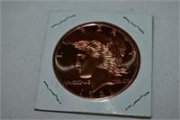 1 Ounce .999 Fine Copper Coin
