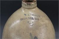 W.E. Welding2 gal blue flower jug
