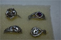 (6) Rings Stamped 925 (Size 5)