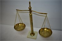 Balance Scale with Marble Base
