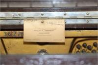 Heintzman player piano, bench & rolls