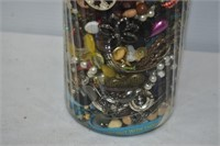 Tall Container with Assorted Jewelry