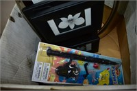 Box of Household, Toys & Wooden Masks
