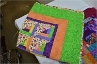 """(2) Handmade Quilts 60""""x50"""" & 40""""x40"""""""
