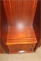 3 section mahogany wall unit