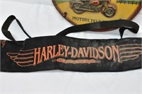 Harley Davidson Plaque & Beer Can Pouch