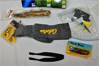 Fishing Bait, Line, Fishing Pole Sock, etc.