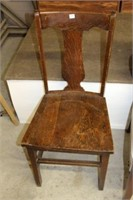 Oak diner chair