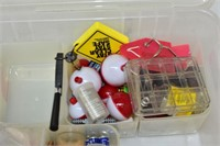 Box of Assorted Fishing Items