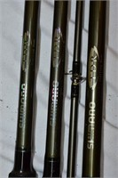 (3) Fishing Rods with Case