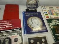 Coin Book and Empty Coin Covers