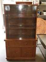 "China Cabinet with Glass Doors 35"" X15"" X61""tall"