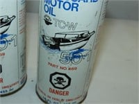 (3) Cans Outboard Motor Oil 50:1
