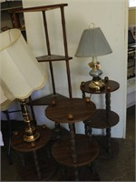 Tiered Shelving, Lamps, etc.