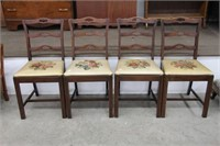 4 needlepoint diner chairs