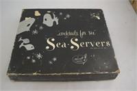 """Vintage """"Karoff Original"""" Cocktail Sea-Servers"""