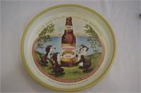 Vintage Man Cave Beer Signs & Tray