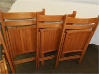 (4) Wooden Chairs