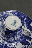 Royal Crown Derby cup & saucer & silverplate