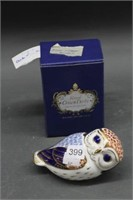 """Royal Crown Derby owl with box - 5"""""""