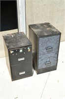 (2) 2 Drawer Steel Filing Cabinets