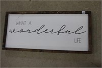 What a wonderful life wooden print