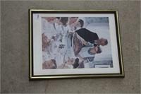 "Norman Rockwell print - 13"" x 17"""