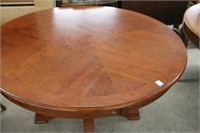 Round pedestal dining table (top not attached)