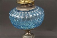"Blue diamond design oil lamp - 24"""