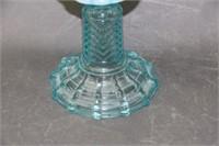 """Blue dot oil lamp - 18"""""""