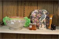 Royal Winton dishes, vase, ornament, etc.