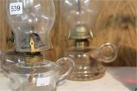 """3 finger oil lamps - 11"""""""