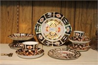 Group of Royal Crown Derby cups & saucers, etc.
