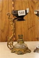 Pair of oil lamp burner units