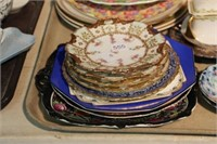 Tray of plates, etc.