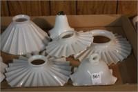 8 glass lamp shades