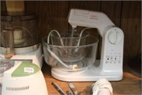 Mixer, food prosessor, electric knife, etc.