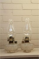 "2 oil lamps - 13"""
