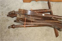 Set of dining room table legs