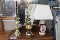 """3 table lamps - 25"""""""