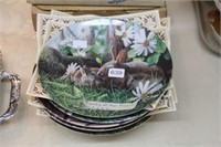 """5 """"Friend Of The Forest"""" collector plates"""