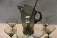 Water pitcher & glasses