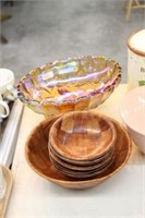 Carnival bowl, covered dishes, etc.