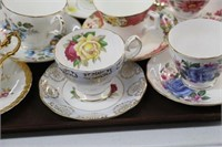 8 cups & saucers