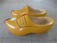 Pair of size 25 1/2 wooden shoes