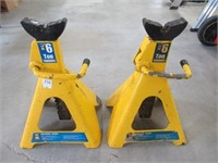 Pair of Powerfist 6 ton jack stands