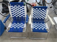 Pair of folding lawn chairs
