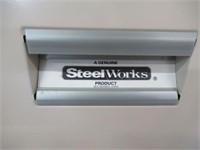 Steel works 2 drawer file cabinet (no keys)
